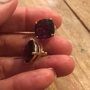 Kate Spade square amethyst earrings